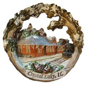 Crystal Lake Train Depot Ornament