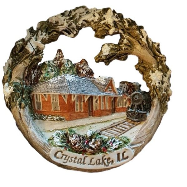 Crystal Lake Train Depot Ornament