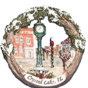 Crystal Lake Raue Clock Ornament