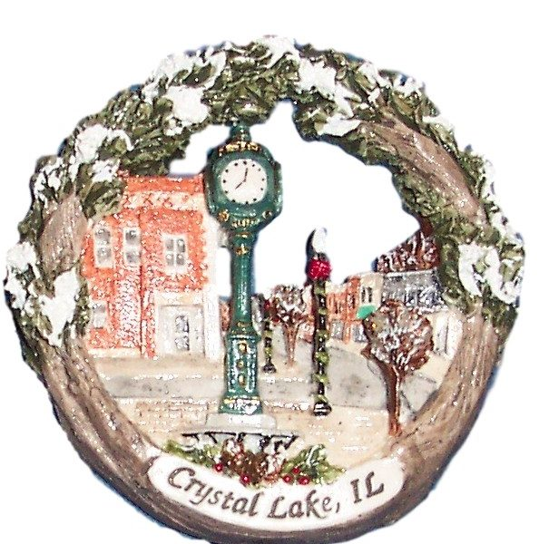 Crystal Lake Raue Clock Ornament