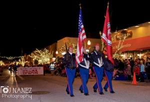 the festival of lights parade is the traditional start to the season when santa claus comes to town